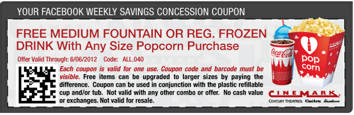 Cinemark coupon code