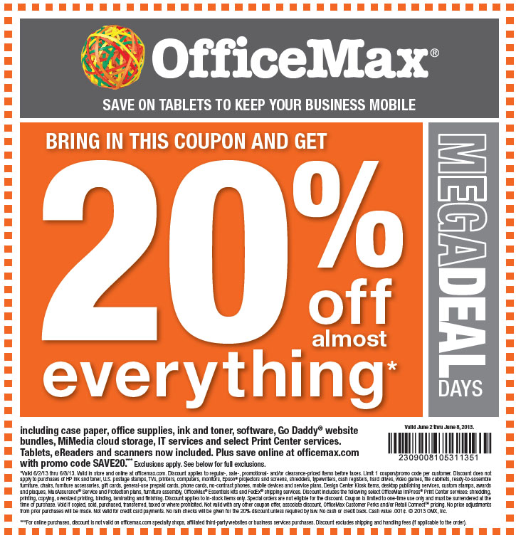 Officemax coupon code