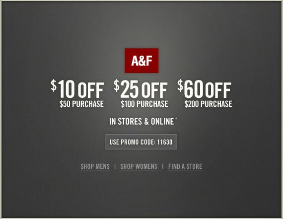 abercrombie 10 60 off printable coupon