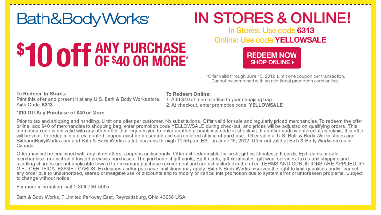 coupons to bath and body works
