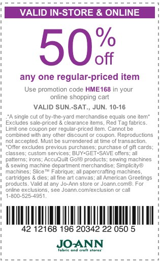 Joanns 50 off coupons : I9 sports coupon