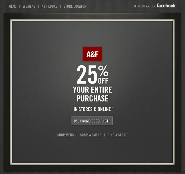 abercrombie 25 off printable coupon