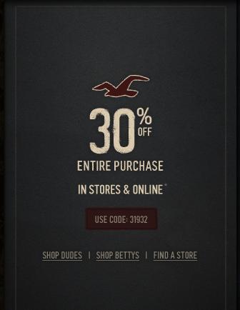 hollister coupon code printable