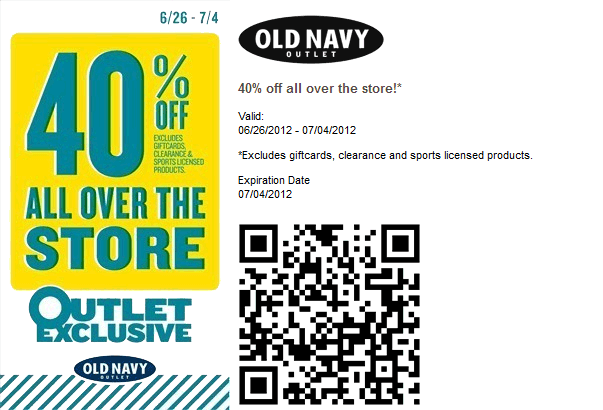 Old navy printable coupons october 2018