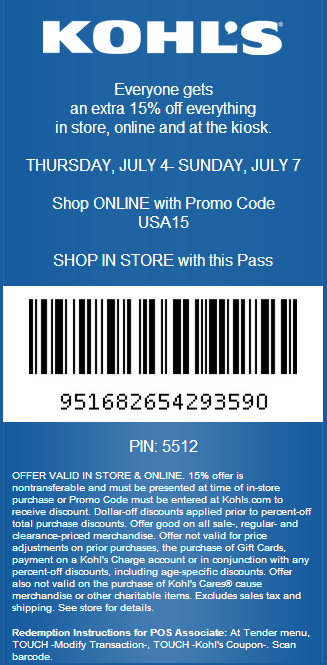 Kohls Coupons, Promo Codes