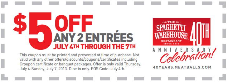 spaghetti warehouse coupons printable listerine coupon canada 2018