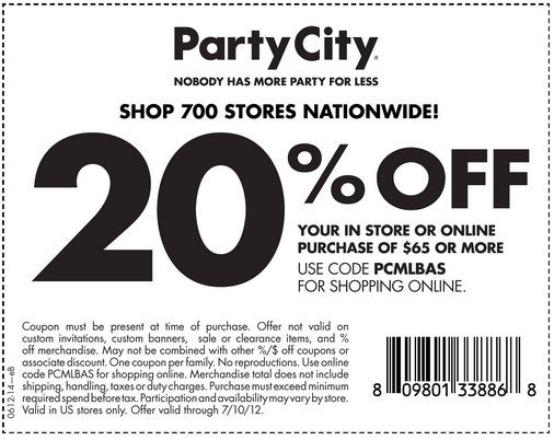 Party City is the country's leading discount party supply retailer. Anything you need for a birthday, graduation or holiday party is available at Party City including thousands of decorations, themes, costumes, balloons, invitations and party favors to choose from.