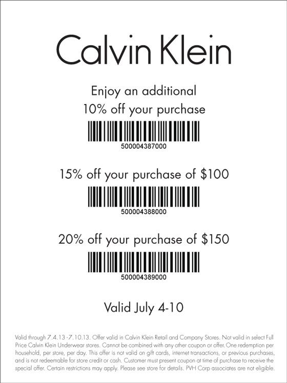 Ck coupons printable