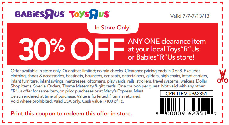 Toys r us 30 off printable coupon see all toys r us coupons