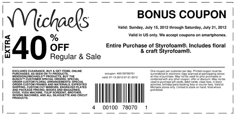 michaels 50 percent off coupon 2018 - Michaels Frames Coupons