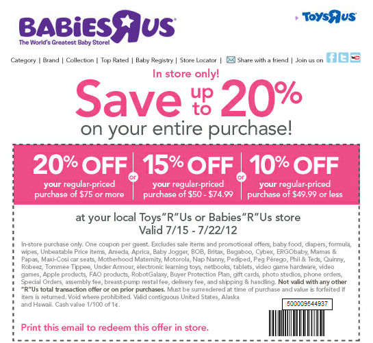 Babies r us discount coupon