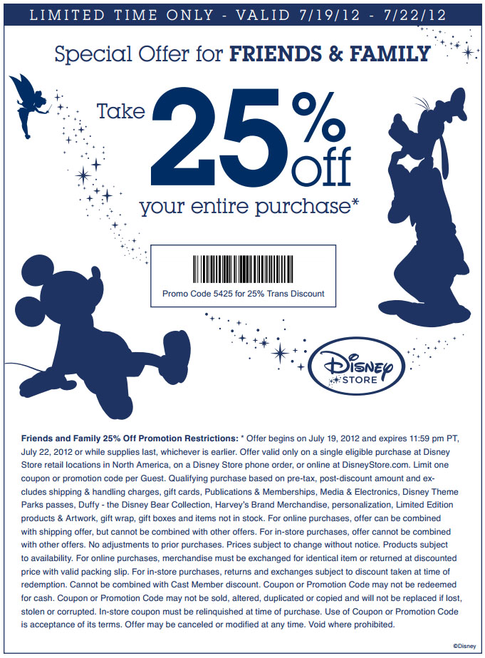 $0 Shipping With shopDisney Promo Code. Make someone's wishes come true by visiting shopDisney, the online Disney Store! Use this coupon code to enjoy free shipping on all $75+ orders. Some restrictions apply; see site for details.5/5(7).