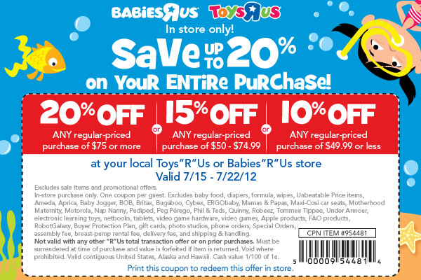 picture relating to Babies R Us Coupon Printable titled Toys r us on the web coupon 20 off - Las vegas exhibit bargains 2018