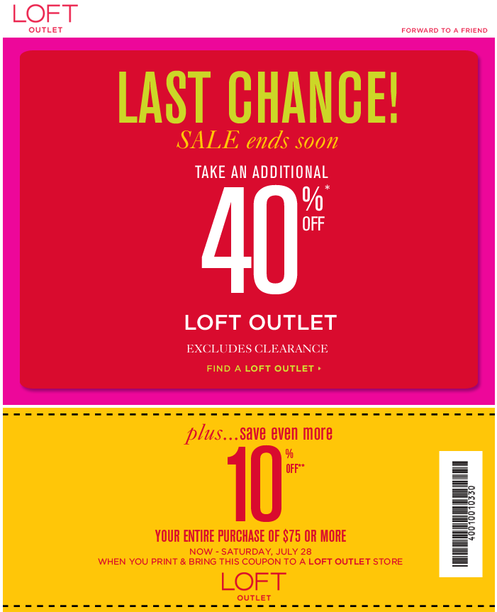 The loft coupon code