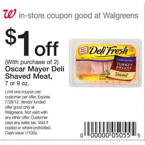 Oscar Mayer Lunch Meat Printable Coupon