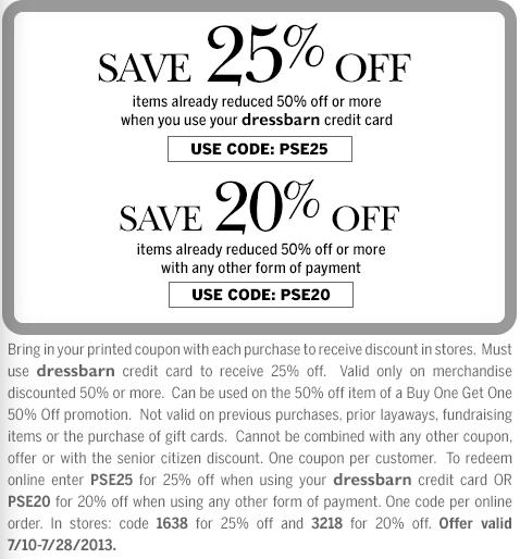 graphic regarding Dress Barn Coupon Printable identify Gown barn 20 off printable coupon - Coupon processing providers