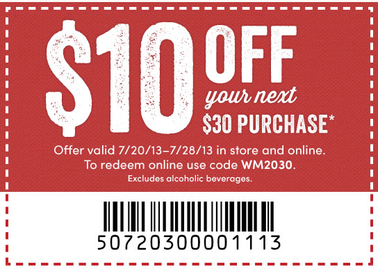 World market coupon $10 off 2018