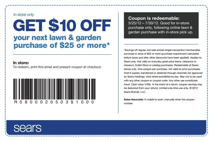 Sears craftsman coupons 2018