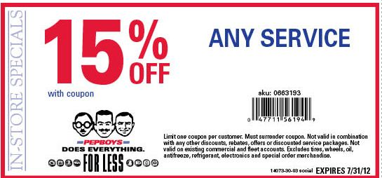 Pep boys coupon code