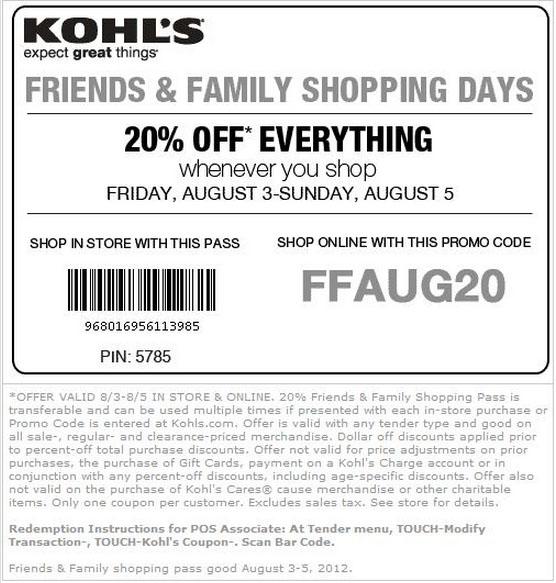 Kohls 25 off coupon code printable
