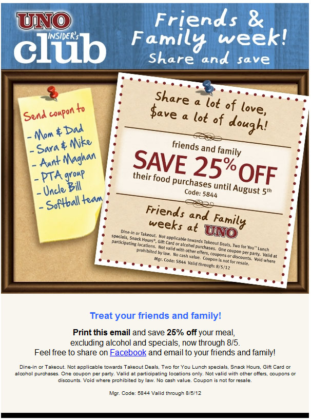 Chicago uno grill coupons