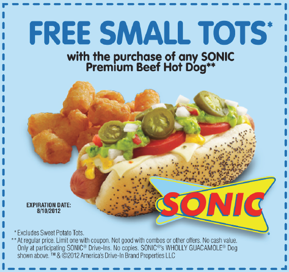 photograph about Sonic Printable Coupon known as Sonic enthusiasm inside coupon codes 2018 / Staples chair coupon 2018
