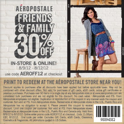 Aeropostale coupons discount codes