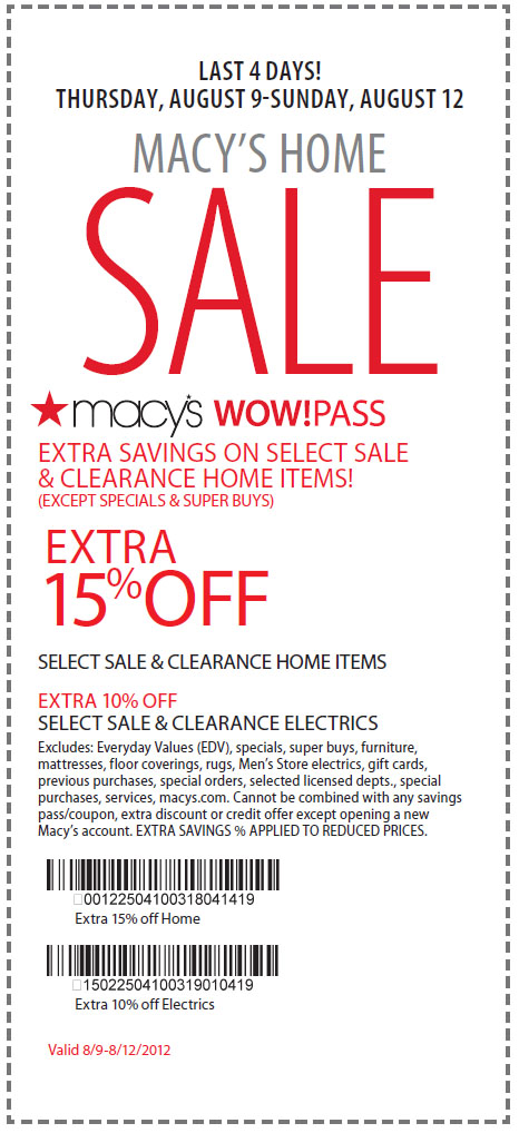 Macy's 15 off coupon december