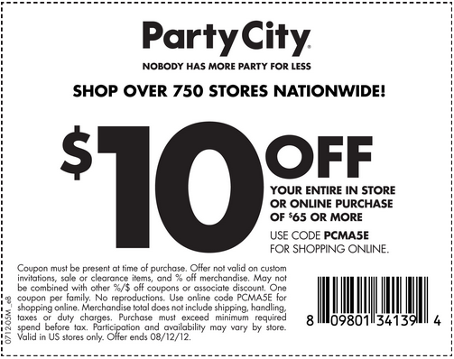 Party city canada coupons june 2018 - Joanns coupons 50 off