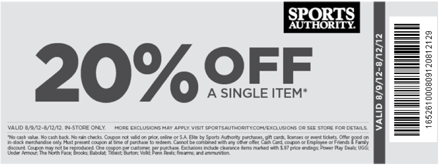 Sports authority printable coupons november 2018