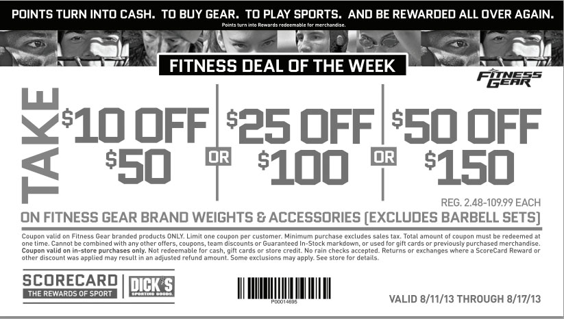 Discount coupons dickssportinggoods