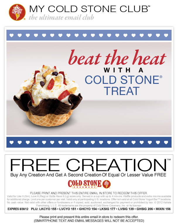 Cold stone coupons printable 2018