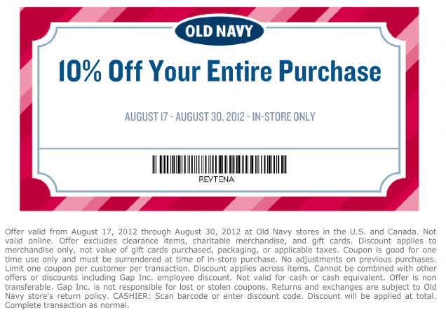 old navy 10 off printable coupon