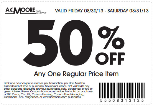 ac moore coupons 20