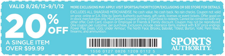 20 off sports authority coupon september 2018