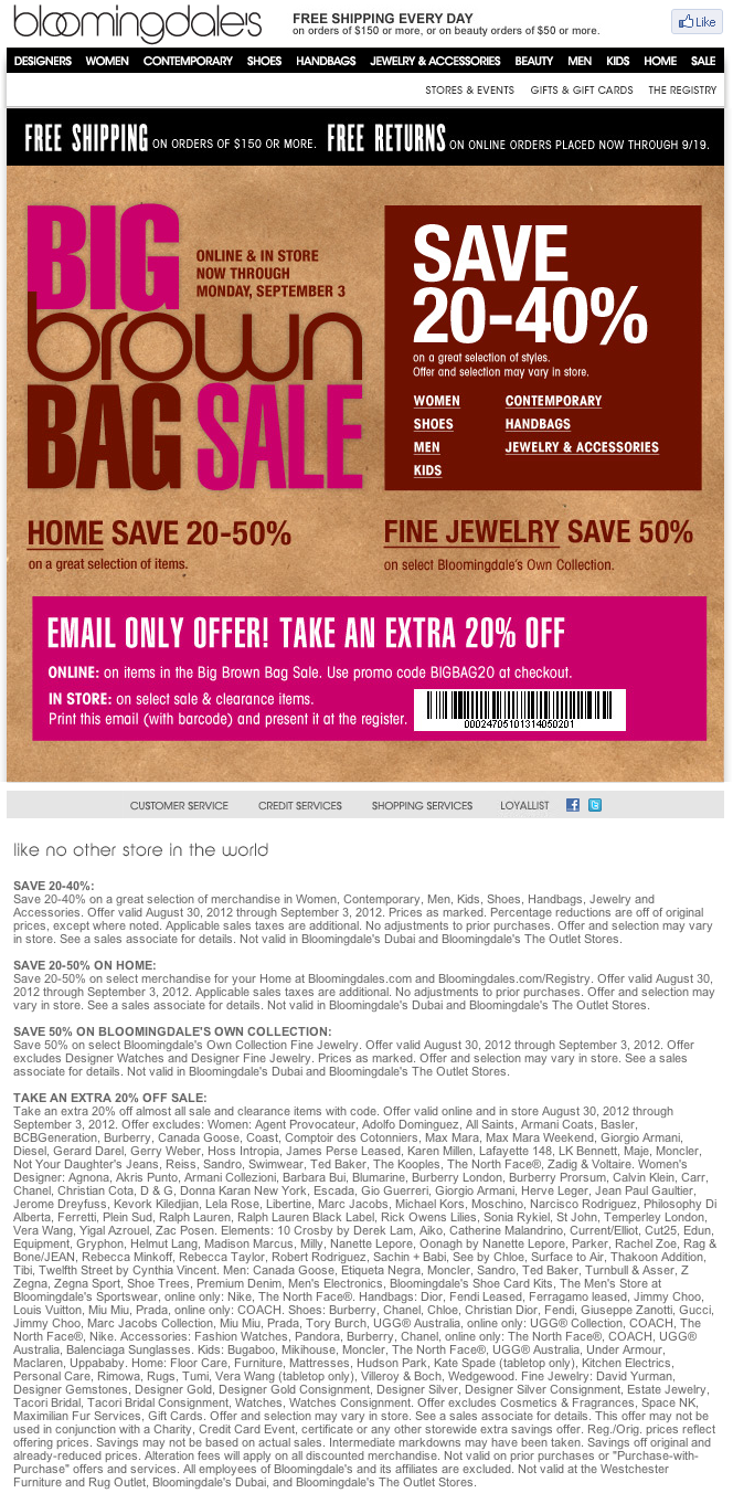 Bloomingdales coupons october 2019