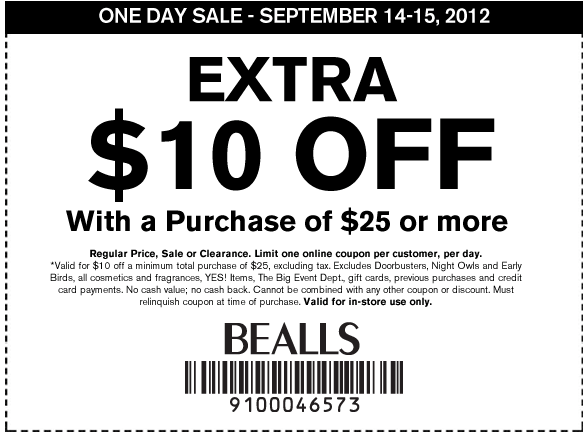 Bealls Department Store   10 off  25 Printable Coupon XJPJ1Vc5