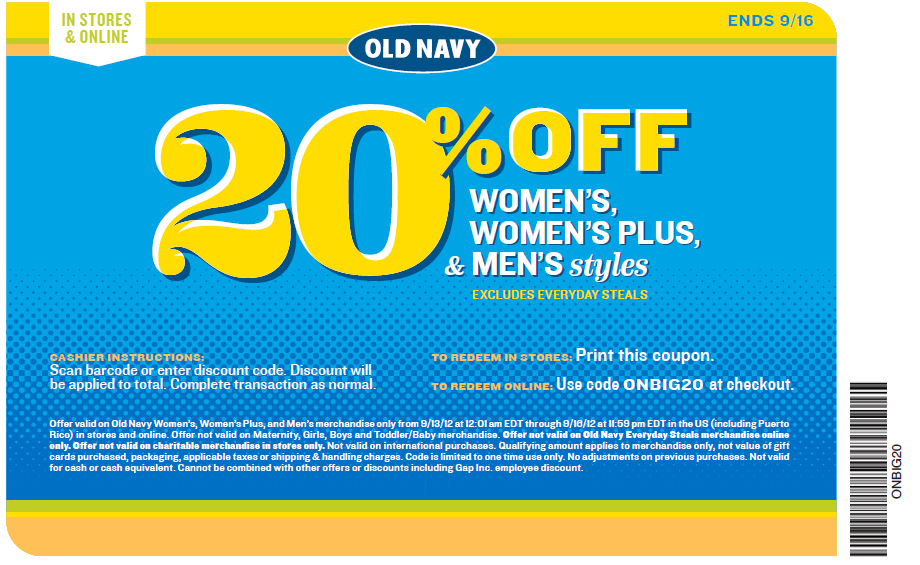 Expired Old Navy Coupons