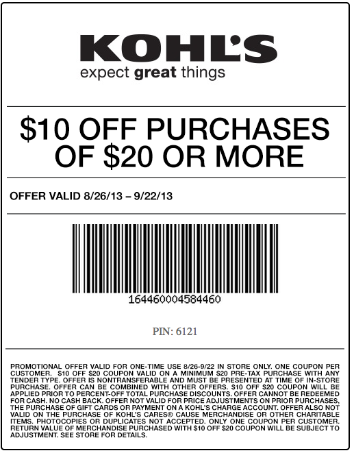 picture relating to Kohls Coupons Printable identify Kohls Coupon codes, Promo Codes