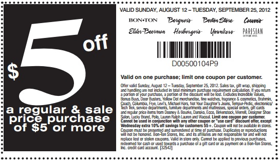 Bergners coupon code