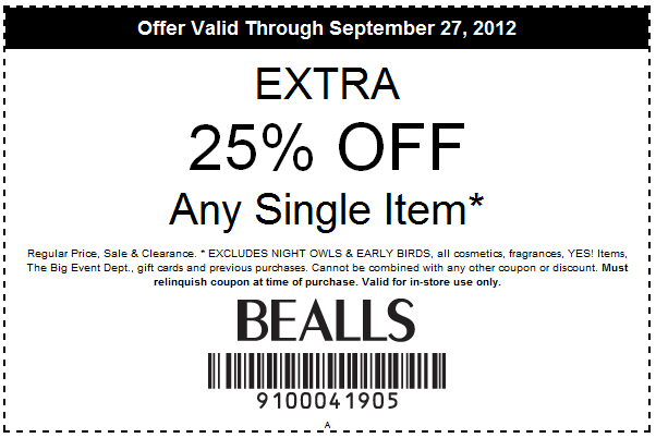 How to use a Bealls coupon