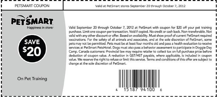 Petsmart puppy class coupons