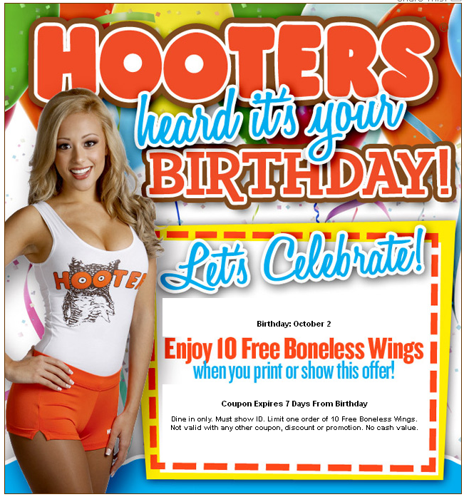 Hooters restaurants are well known for their ambiance as well as their wings, and with Hooters coupons you can get even more action for your buck. GoodShop has access to Hooters coupon codes that afford you even more enjoyment whether you're buying hot wings or dessert shooters, potato skins or steak and cheese melts, the sky is the limit.
