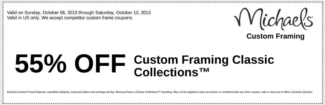 Michaels custom framing coupons / Online Discount