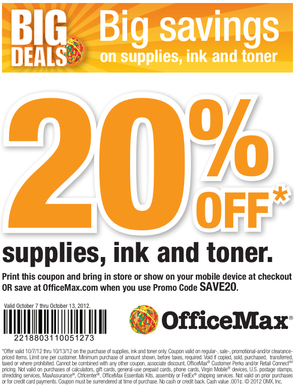 Office max coupon codes