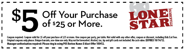 Lone star discount coupons