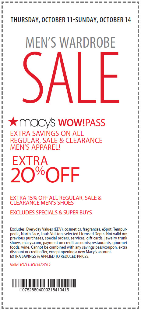 Find every single Macys coupon, promo code, sale, and free shipping offer at Groupon Coupons! Save on the hottest fashions, home goods, beauty items, and more!