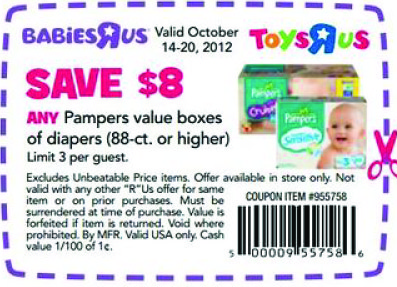 Babies R Us 8 Off Pampers Printable Coupon