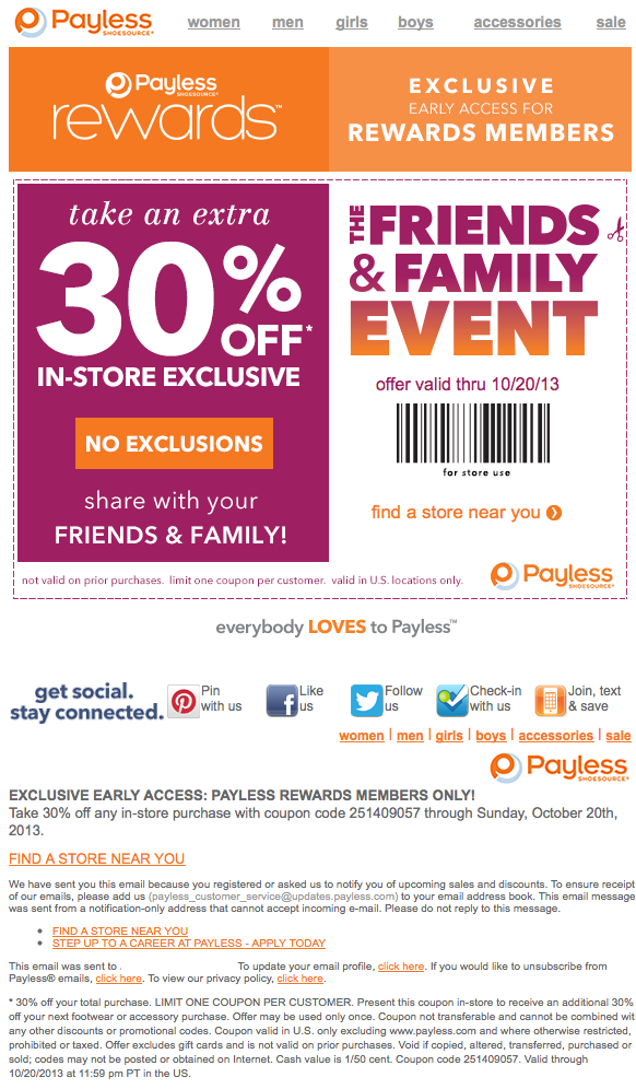 Payless coupon code car rental
