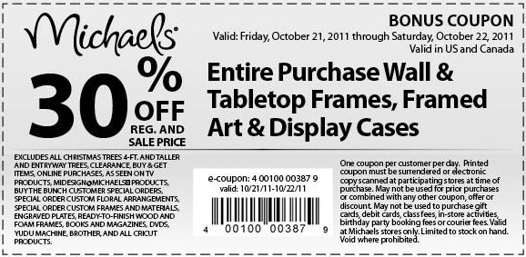 Michaels 30 off printable coupon for Coupons michaels arts and crafts